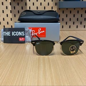 Ray-ban clubmaster 3016 green Lense black frame